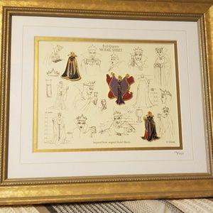 Disney evil queen framed model sheets